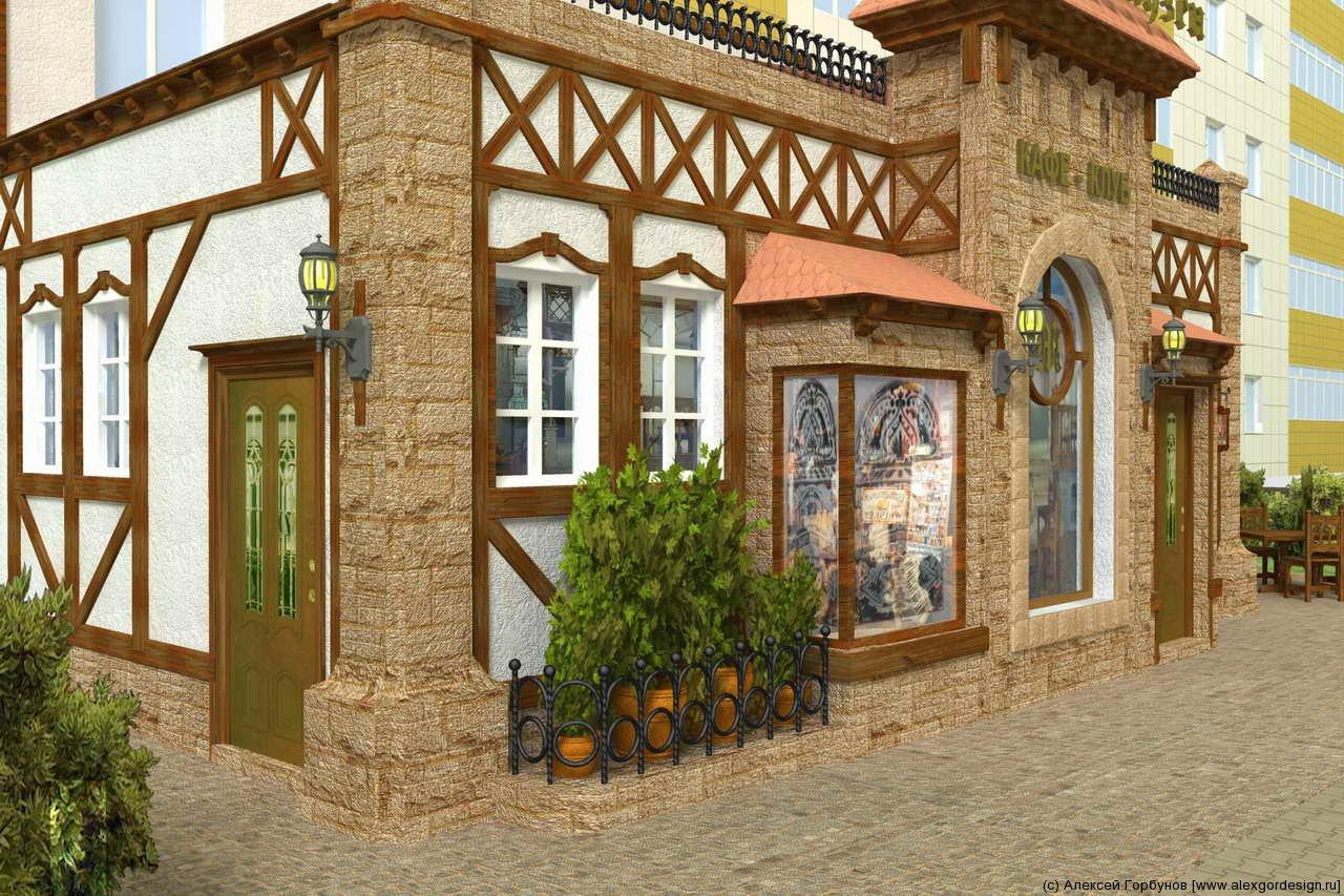 Дизайны фасадов ресторанов 138