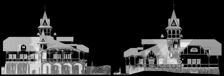 Фасад развлекательного комплекса / Фасады Рестораны Кантри Демидково Архитектура