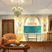 Гостиная в классическом стиле / Французский стиль Коттеджи Классика Камины Интерьеры Гостиные