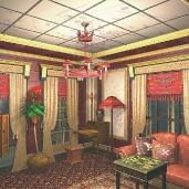 Китайская комната / Этника Коттеджи Гостиные Восточный стиль