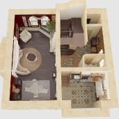 Гостиная в средне земноморском стиле / Коттеджи Интерьеры Гостиные