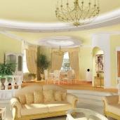 Двухуровневая гостиная / Коттеджи Классика Камины Интерьеры Гостиные