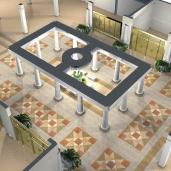 Холл торгового дома / Холлы Торговые залы Конструкции Интерьеры