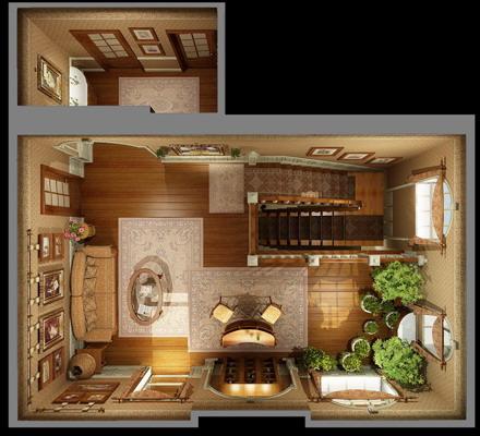 Холлы коттеджа с лестницей / Холлы Французский стиль Лестницы Коттеджи Интерьеры