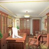 Домашний кабинет / Классика Квартиры Кабинеты Интерьеры