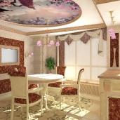 Столовая с кухней / Столовые Кухни Классика Квартиры Интерьеры