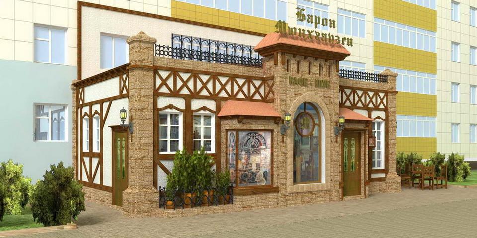 Фасады кафе
