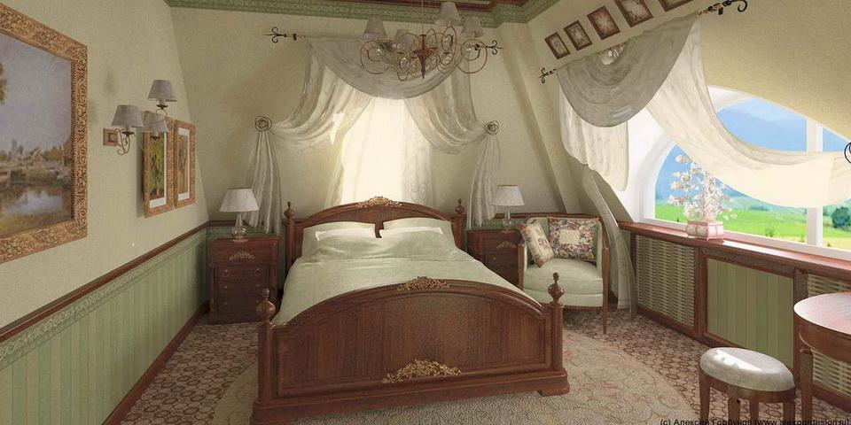 Спальни на чердаке