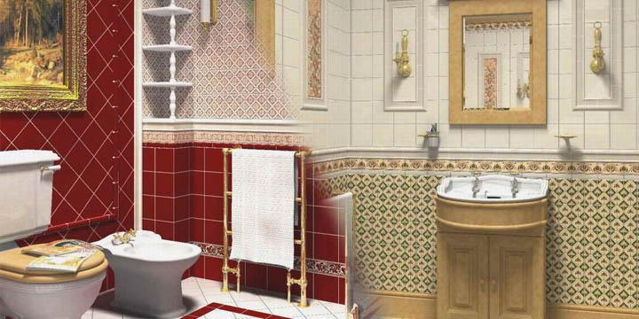 Английские WC (Ванные, Интерьеры, Классика, Коттеджи)